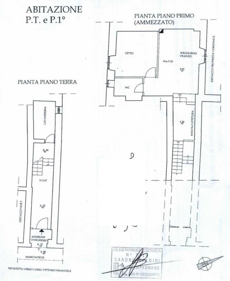 Vendita  bilocale Campagnano di Roma Corso Vittorio Emanuele 1 604456