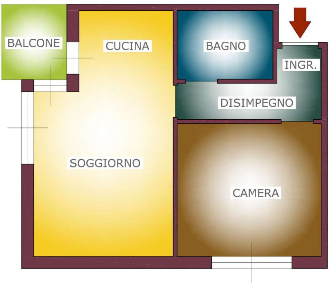 Bilocale Rapallo Via Enrico Toti 1