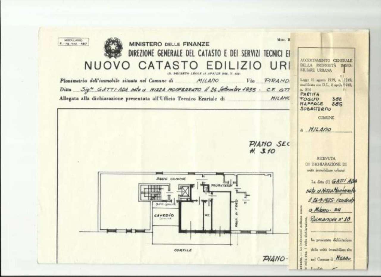 Affitto  bilocale Milano Via Pirandello 1 1006229