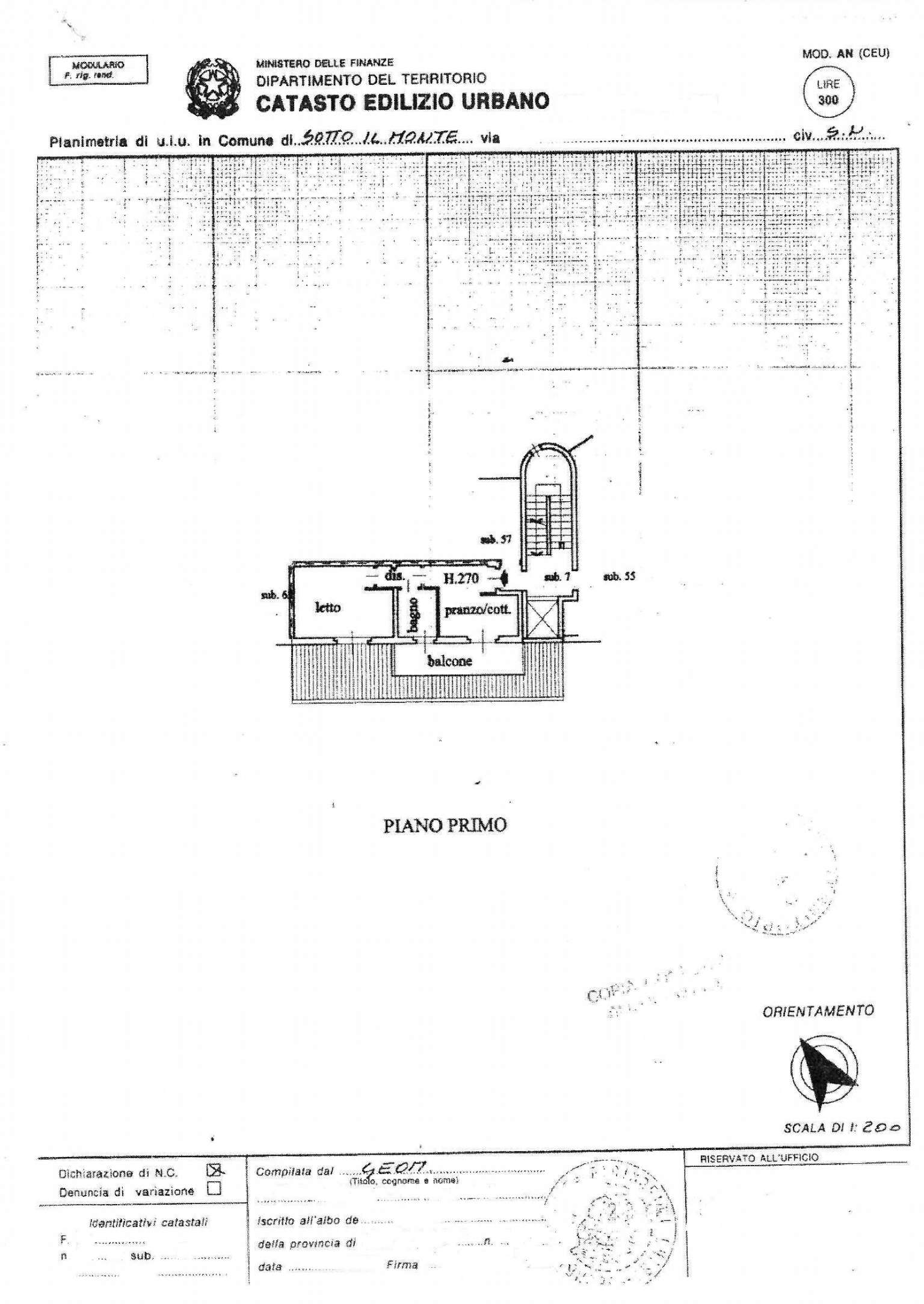 Vendita  bilocale Sotto il Monte Giovanni XXIII Via Esperanto 1 1082856
