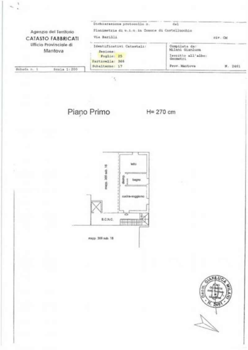 Vendita  bilocale Castellucchio Via L. Barilli 1 683750
