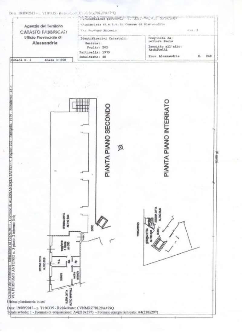 Vendita  bilocale Alessandria Via A. Perfumo 1 942905