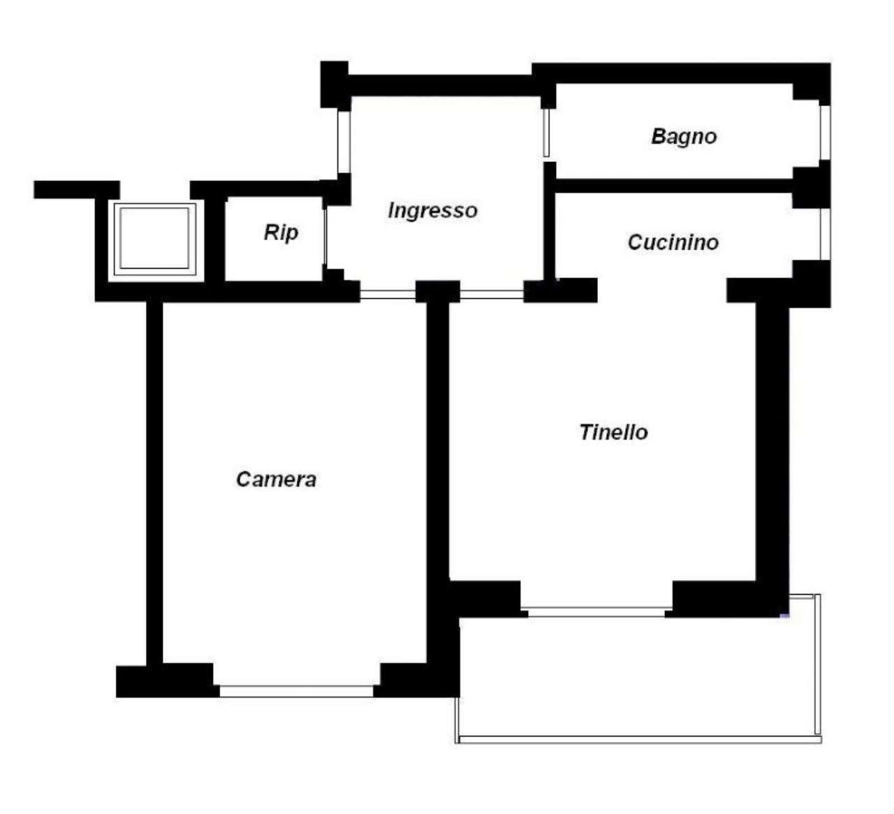 Vendita  bilocale Ciriè Via Dott. L. Rossetti 1 929249