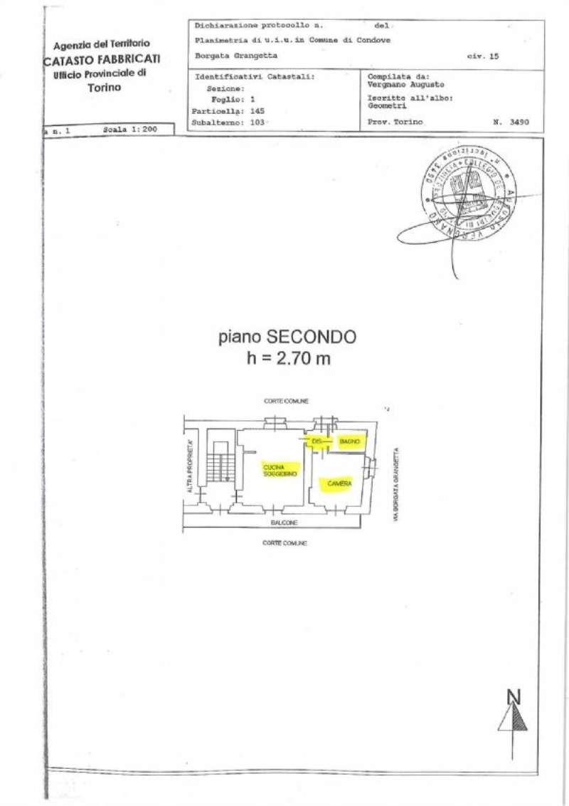 Vendita  bilocale Condove Borgata Grangetta 1 1049014