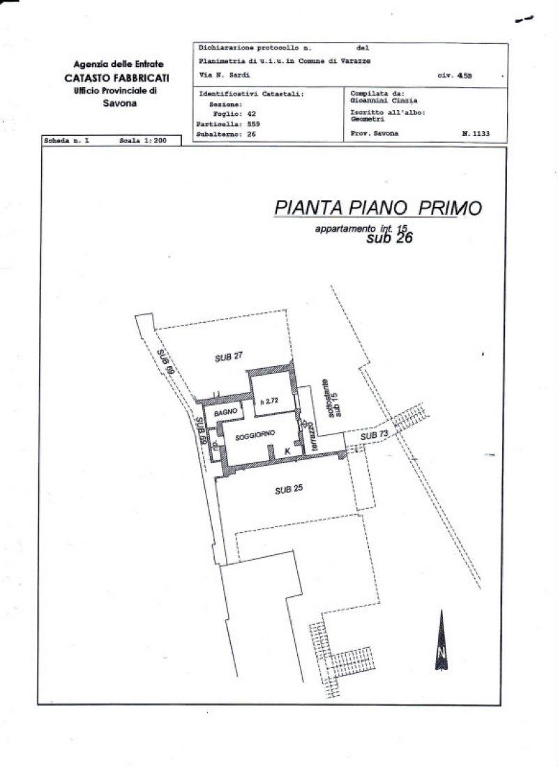 Vendita  bilocale Varazze Via Nicolò Sardi 1 674169