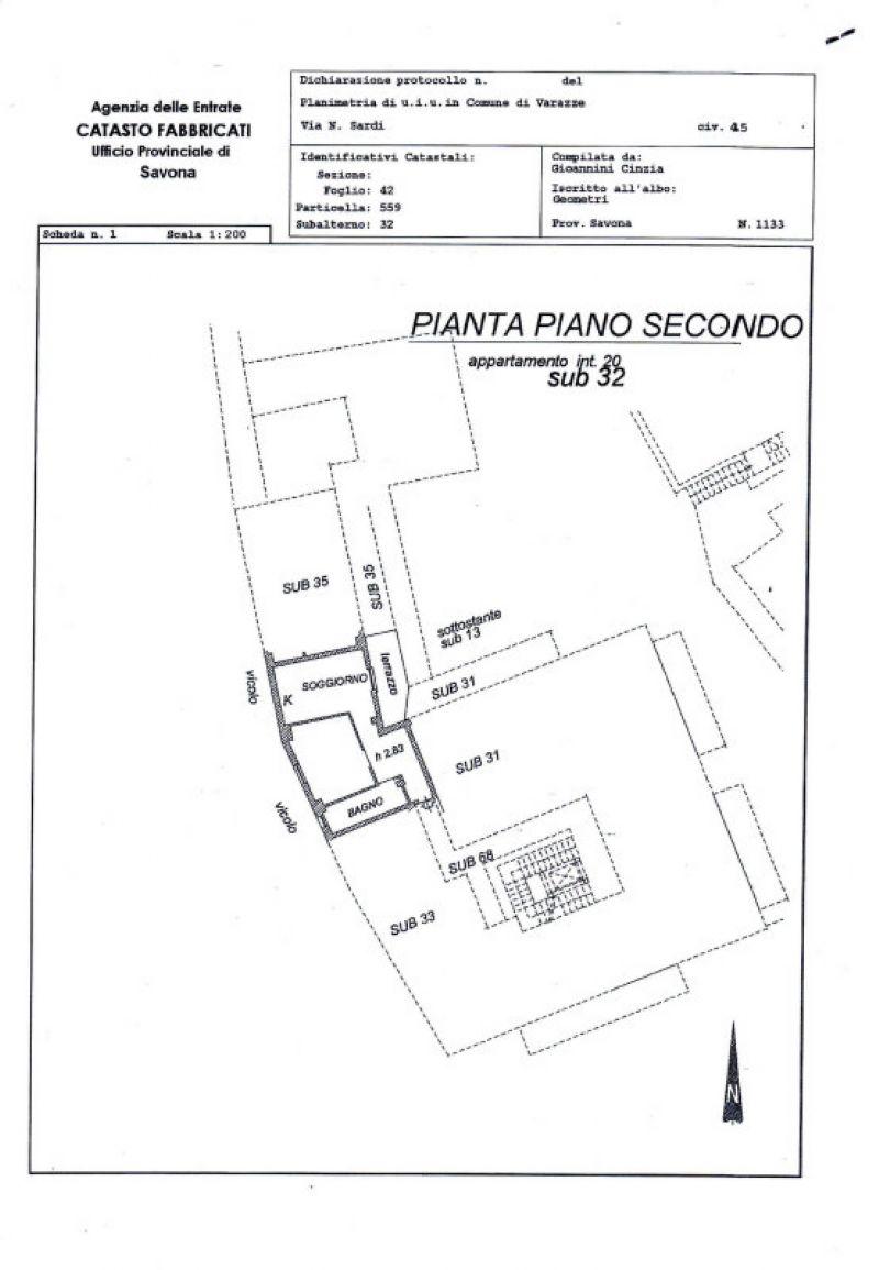 Vendita  bilocale Varazze Via Nicolò Sardi 1 674171