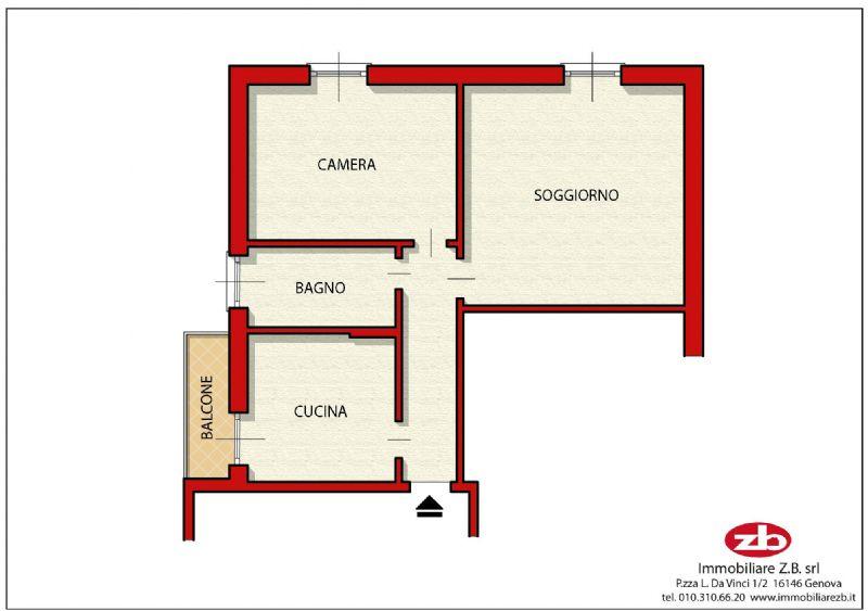 Vendita  bilocale Genova Via Gorizia 1 573082