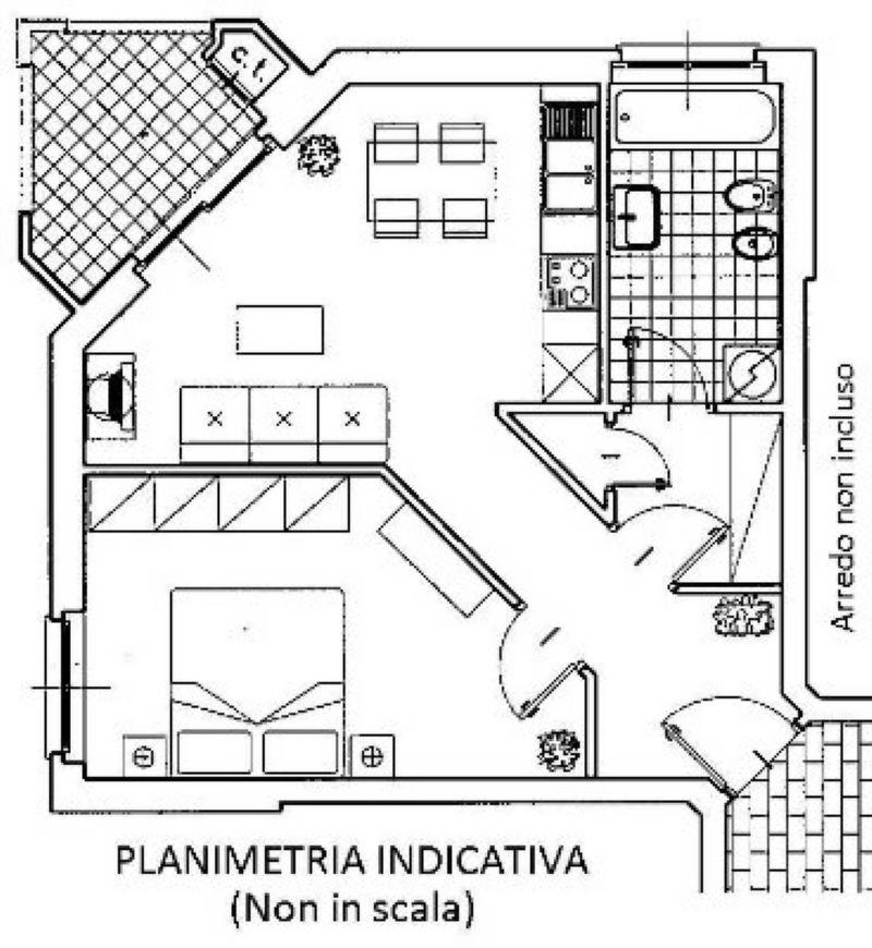 Affitto  bilocale Torino Strada Del Fortino 1 401062