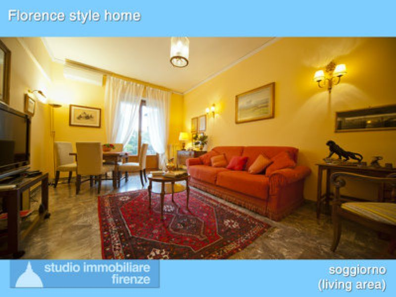 Affitto bilocale Firenze A232-01_Florence_style_home_apartment_living_area_