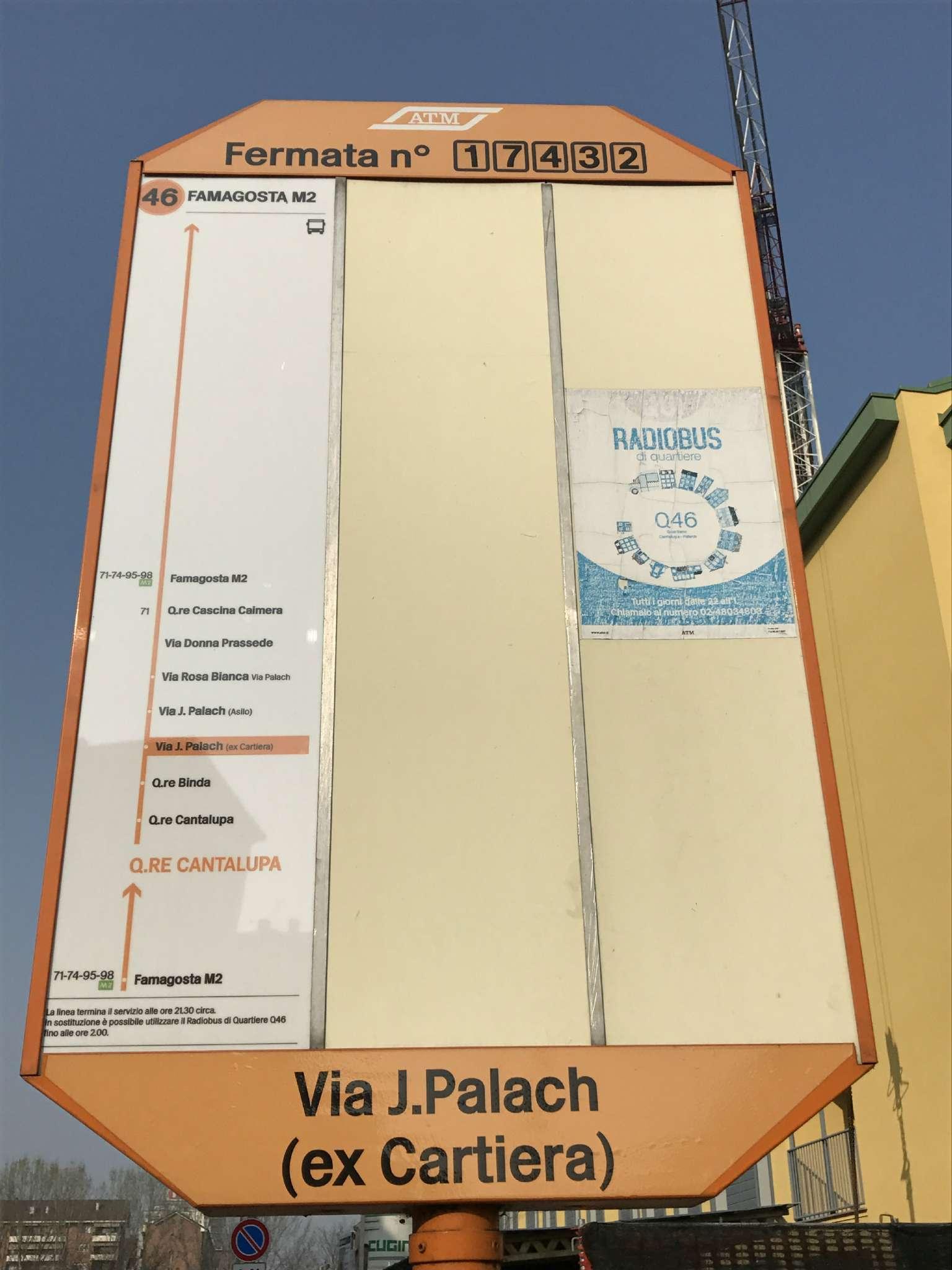 Bilocale Milano Via Jan Palach 3