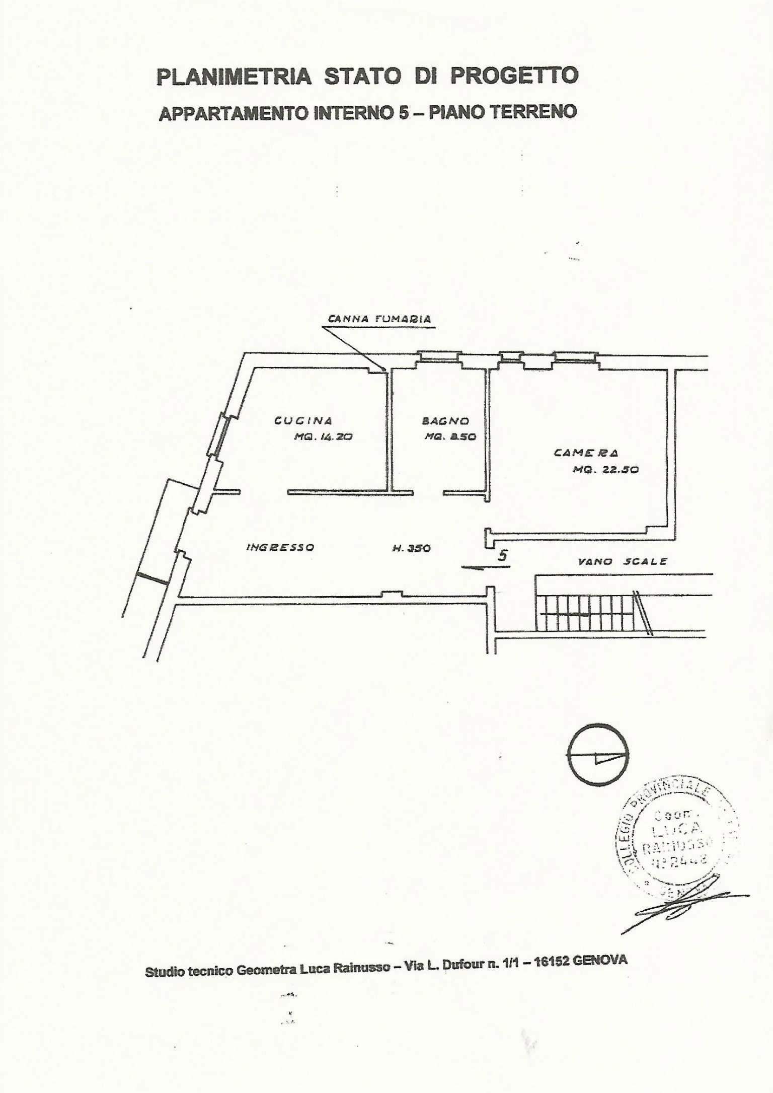 Appartamento in affitto a Genova, 2 locali, zona Zona: 8 . Sampierdarena, Certosa-Rivarolo, Centro Ovest, S.Teodoro, prezzo € 460 | CambioCasa.it