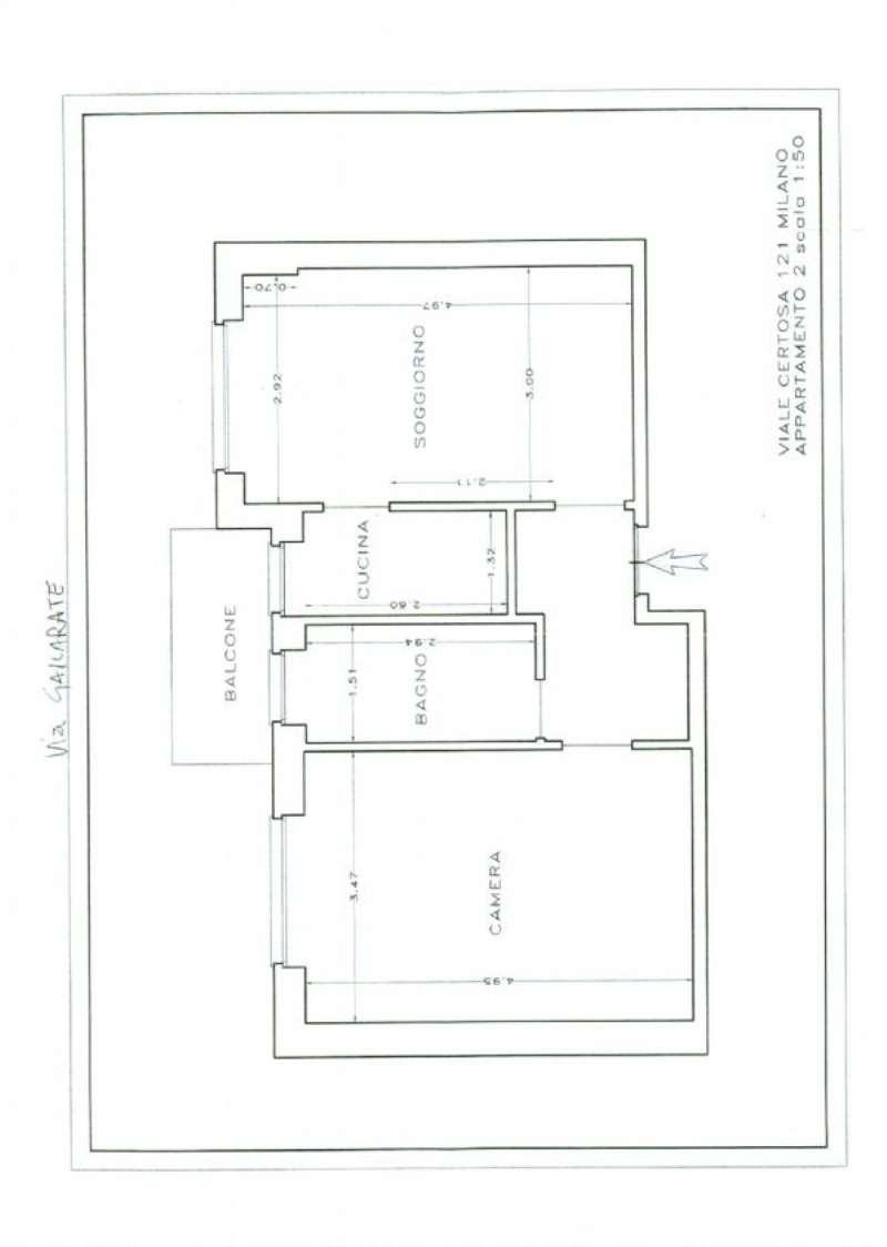 Affitto  bilocale Milano Viale Certosa 1 1073390