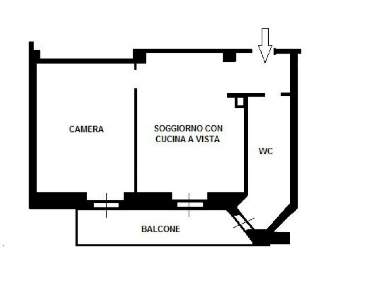 Vendita  bilocale Milano Via Bernstein 1 970909