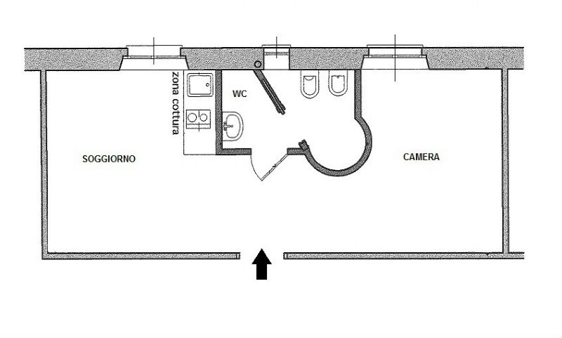 Vendita  bilocale Milano Via Gaetano De Castilla 1 1073465