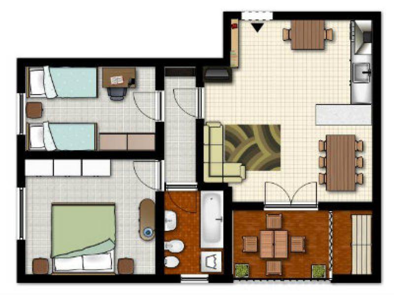Appartamento in vendita a Chiari, 3 locali, prezzo € 85.000 | Cambiocasa.it