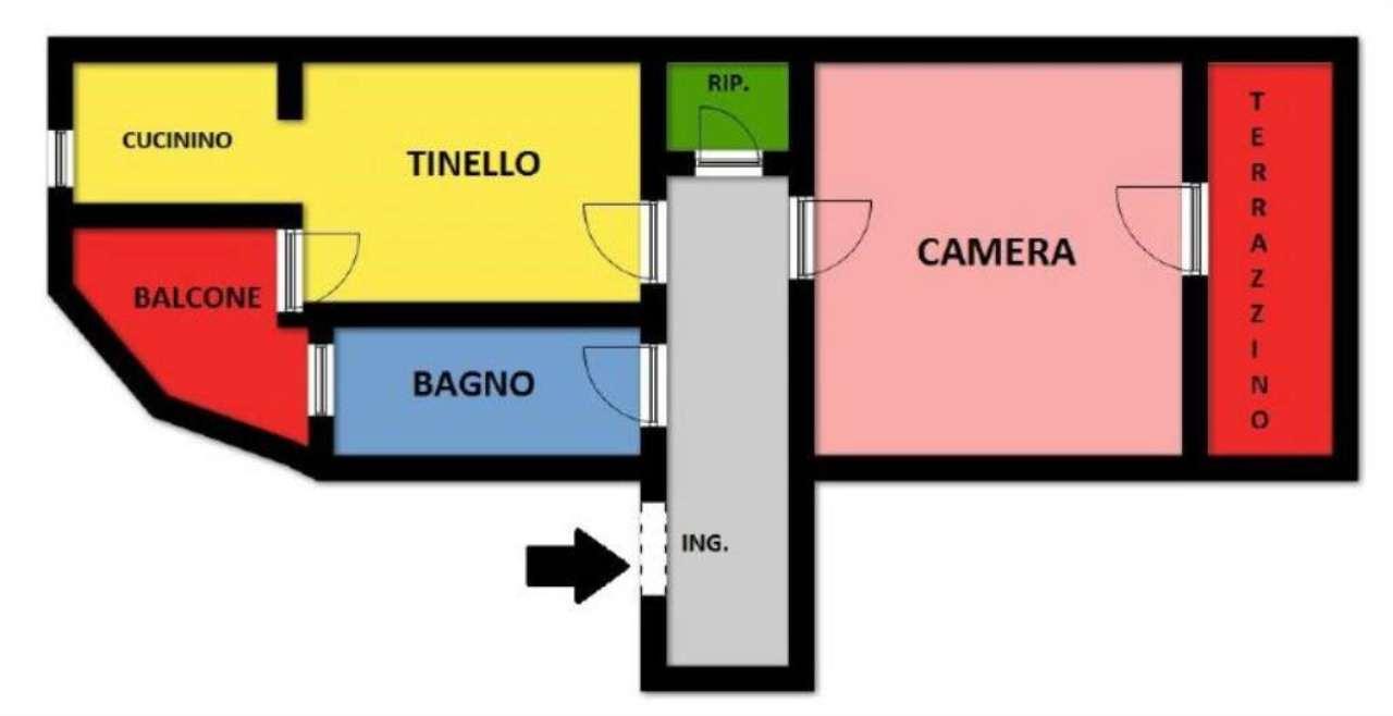 Vendita  bilocale Torino Via Via Matilde Serao 1 947106