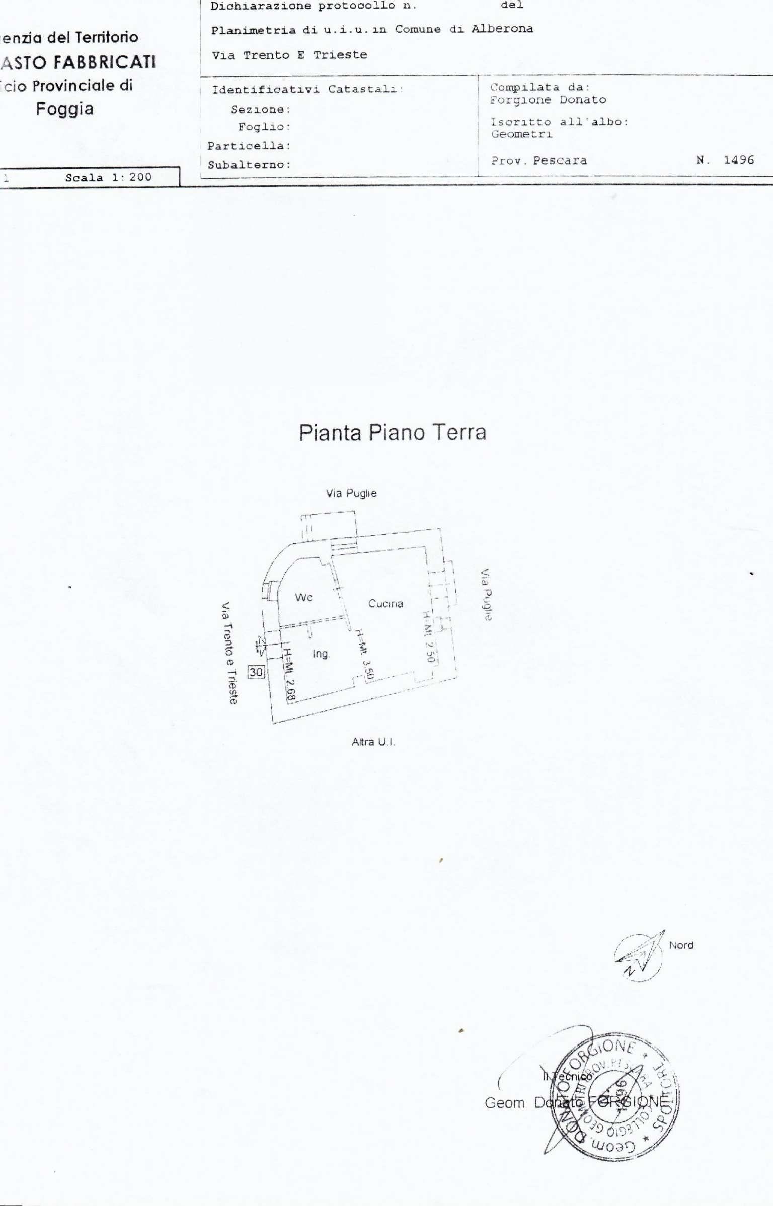 Vendita  bilocale Alberona Via Trento Trieste 1 925854