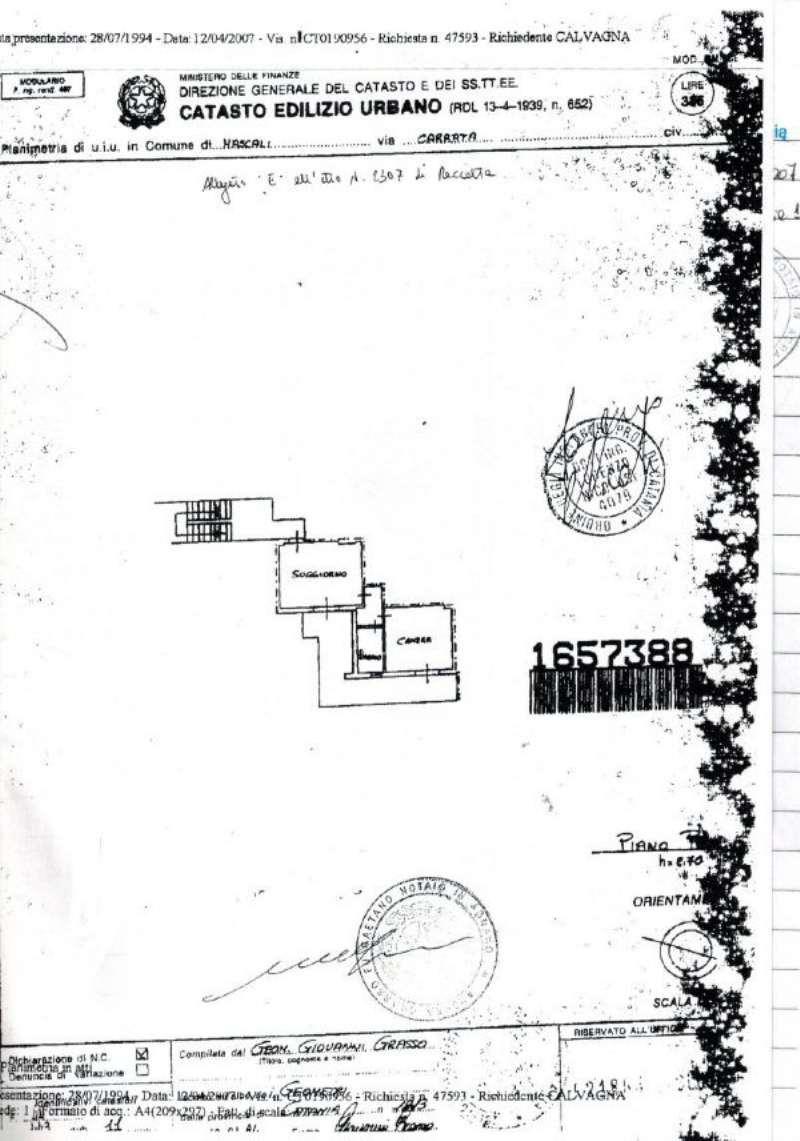 Vendita  bilocale Mascali Via Carrata 1 854772