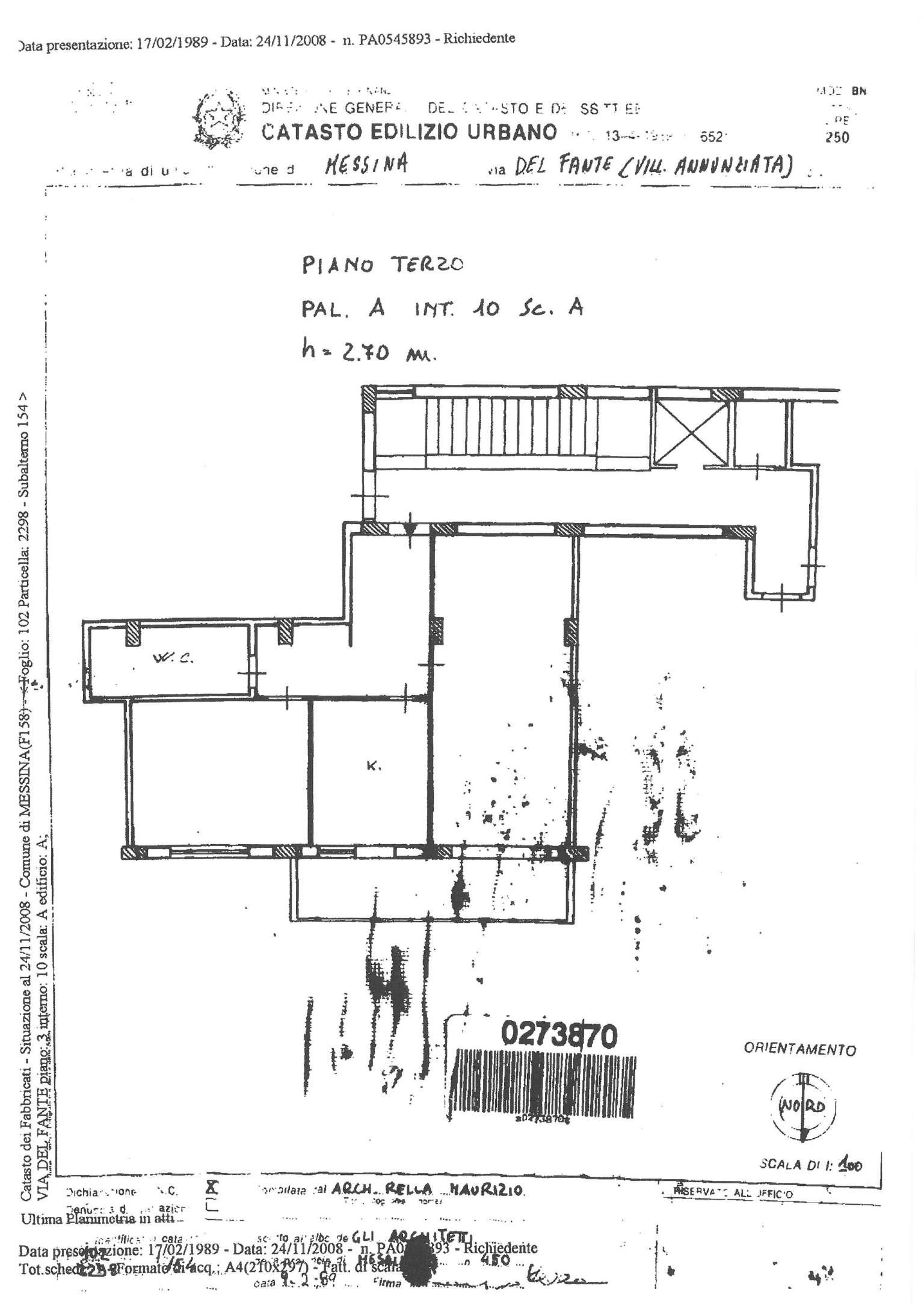 Vendita  bilocale Messina Via Del Fante 1 854688