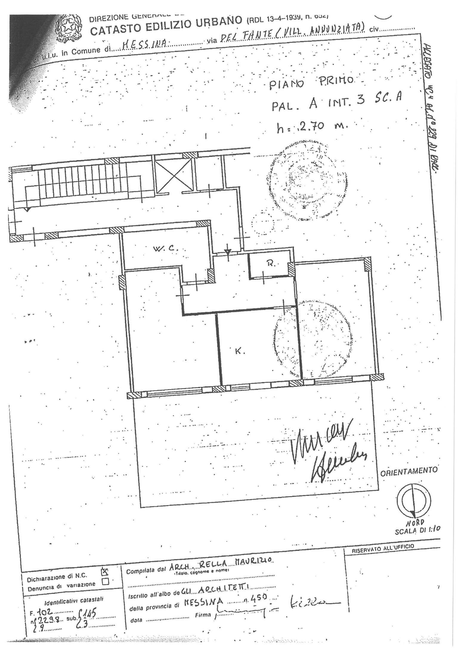 Vendita  bilocale Messina Via Del Fante 1 854685
