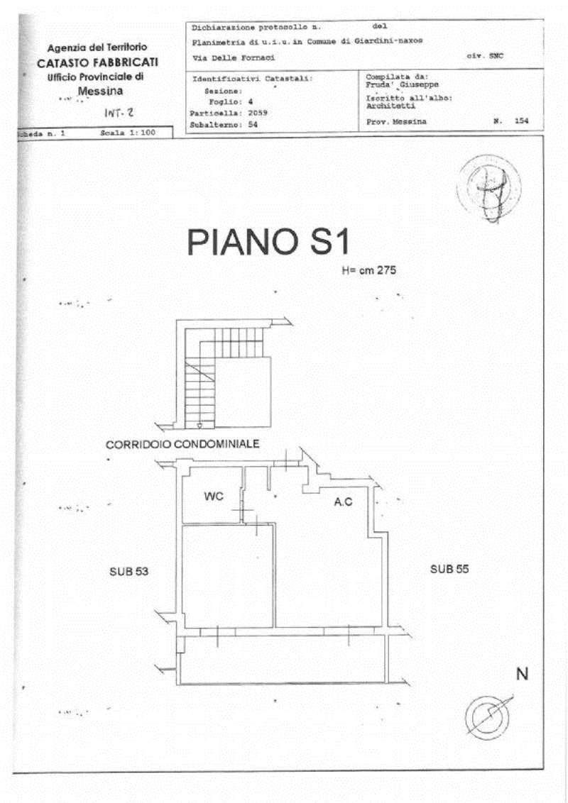Vendita  bilocale Giardini Naxos Via Delle Fornaci 1 1092446