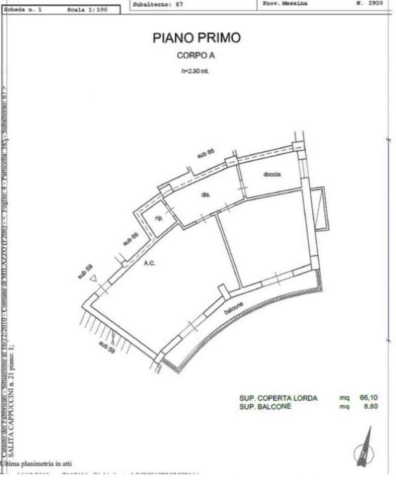Vendita  bilocale Milazzo Salita Cappuccini 1 854693