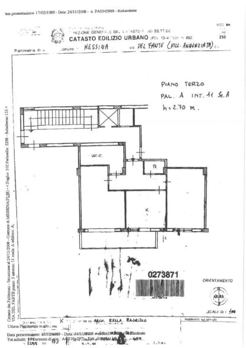 Vendita  bilocale Messina Via Del Fante 1 854686