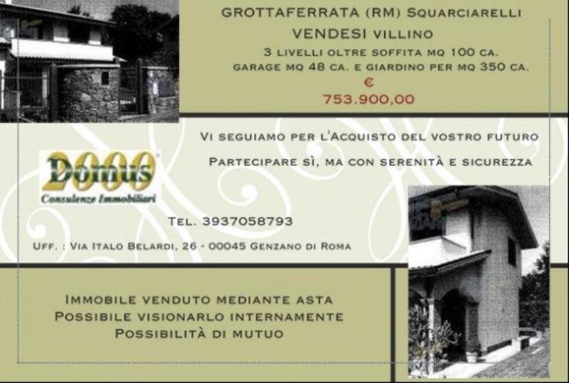 Villa-Villetta Vendita Grottaferrata