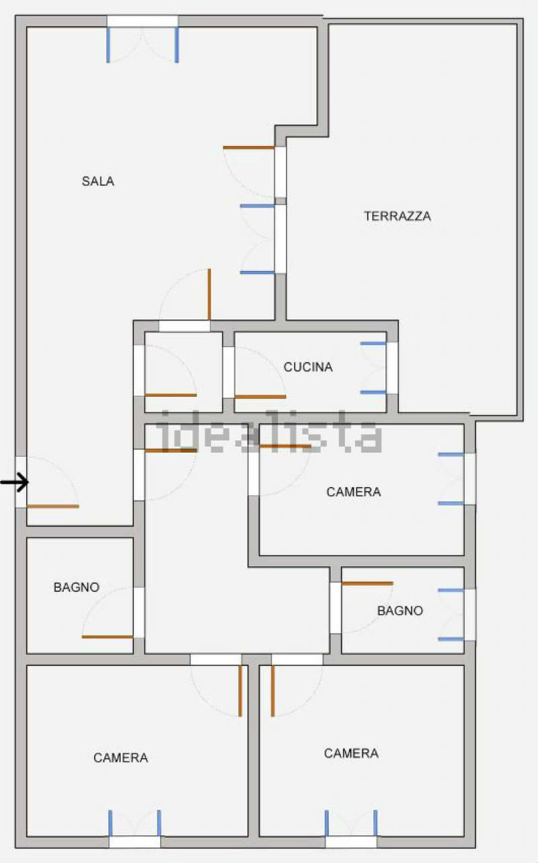 Planimetria realizzata da Idealista.it