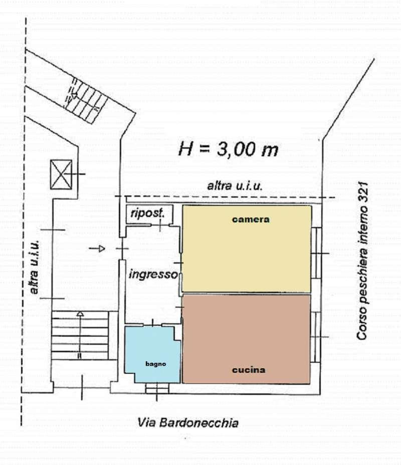 Vendita  bilocale Torino Via Bardonecchia 1 1087302