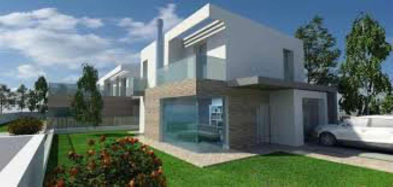 Zona vigheffio porzioni di bifamiliari di nuova for Progetto ville moderne nuova costruzione