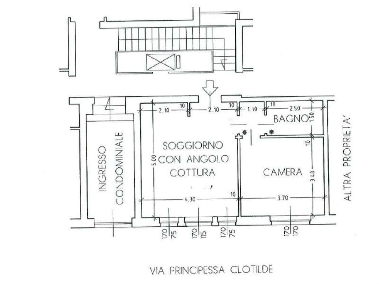 Affitto  bilocale Torino Via Principessa Clotilde 1 938370
