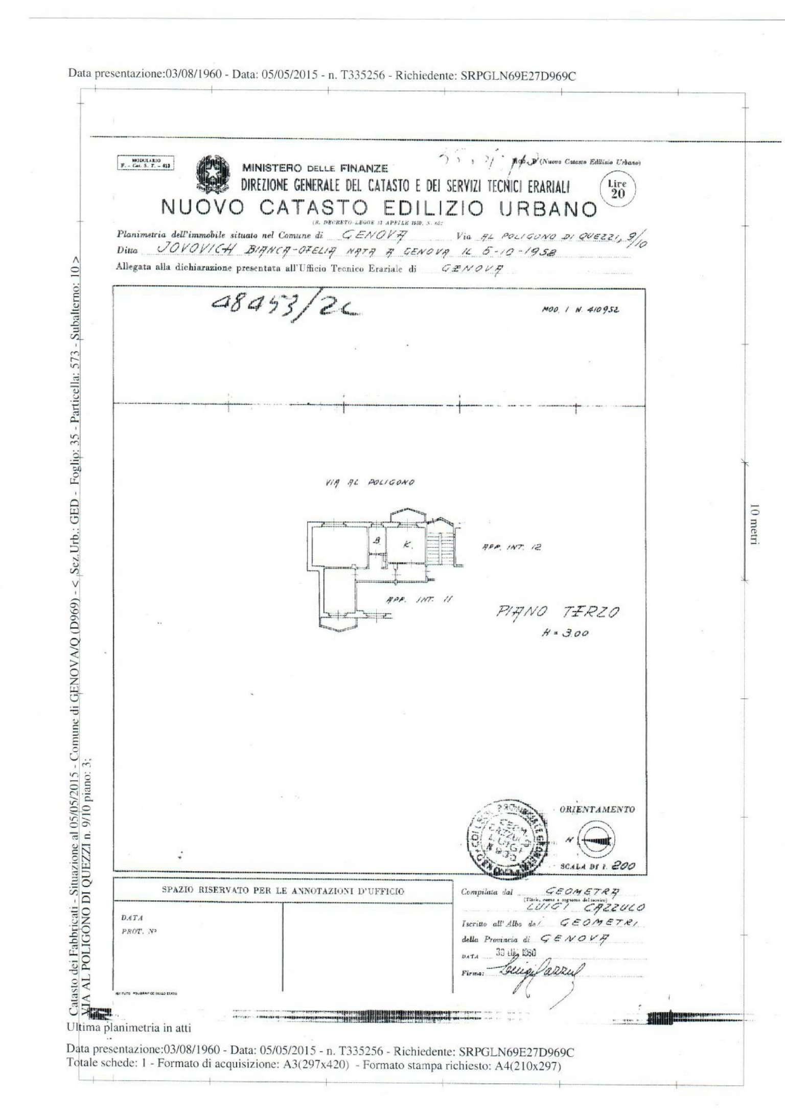 Affitto  bilocale Genova Via Al Poligono Di Quezzi 1 953772