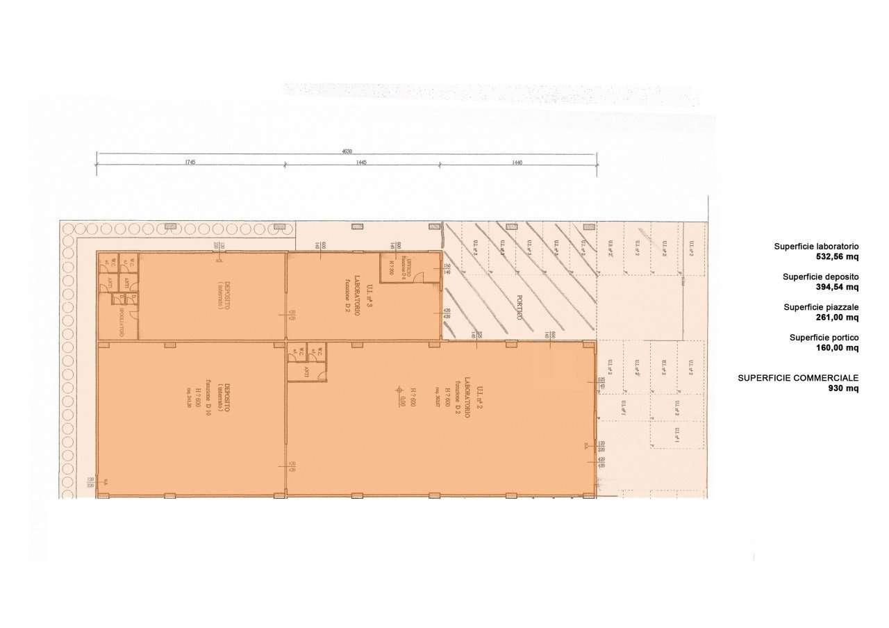 Vendesi porzione di capannone di totali mq 930 circa in for Capannone di 144 mq