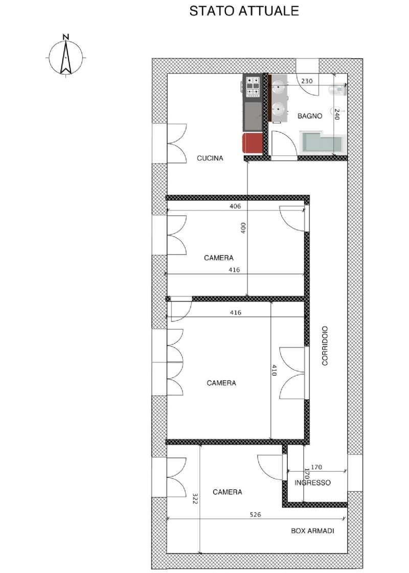 Appartamento in affitto a genova piazza tommaseo for Planimetrie personalizzate