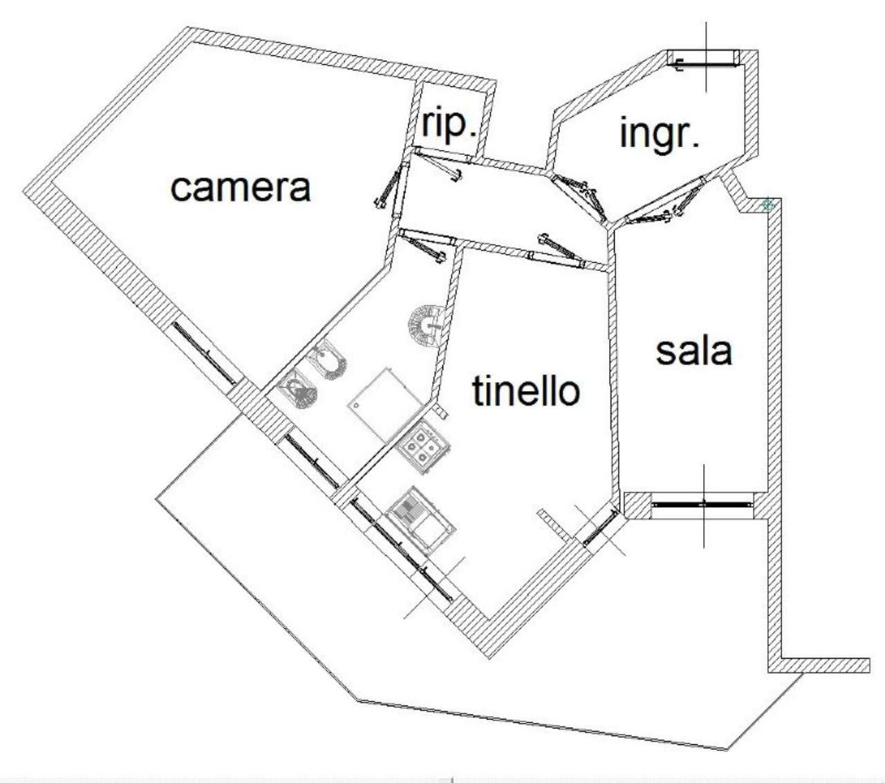 Affitto  bilocale Genova Via Del Commercio 1 1008413