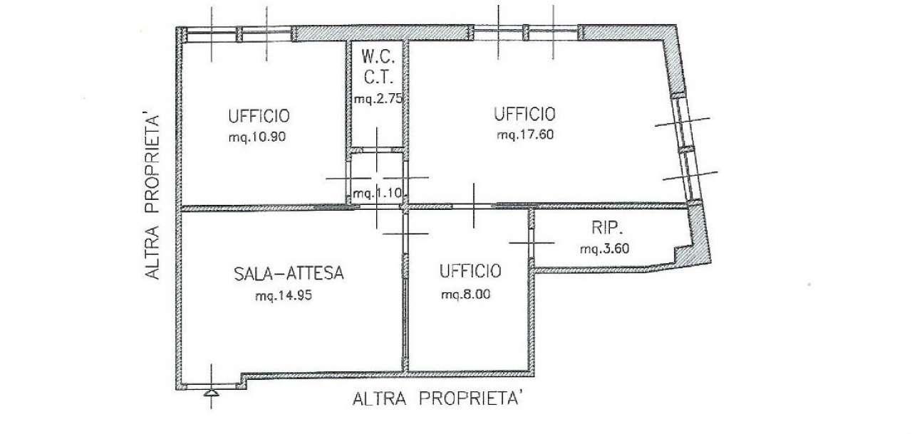 Ufficio / Studio in affitto a Cattolica, 3 locali, prezzo € 500   CambioCasa.it