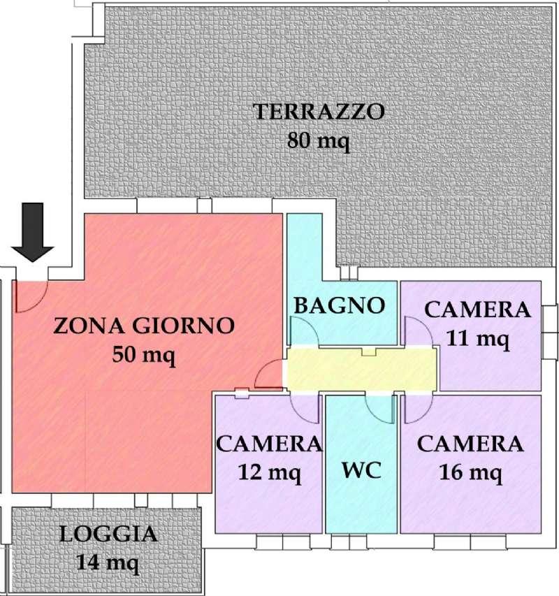 Attico / Mansarda in vendita a Vigonovo, 4 locali, prezzo € 250.000 | Cambio Casa.it