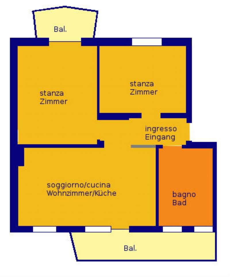 Appartamento in vendita a Bolzano, 3 locali, prezzo € 179.000 | Cambio Casa.it