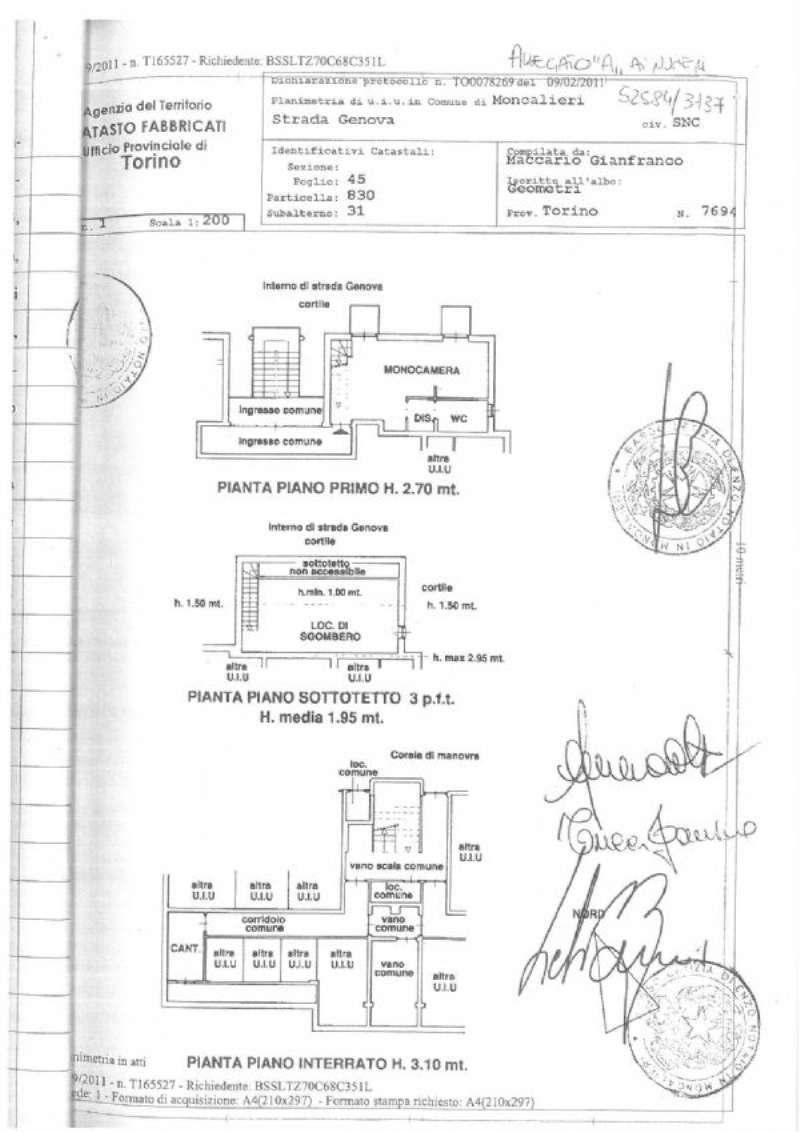 Vendita  bilocale Moncalieri Strada Strada Genova 1 834090