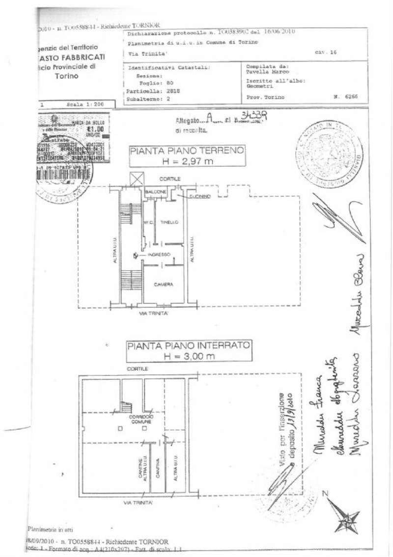 Vendita  bilocale Torino Via Trinità 1 950588