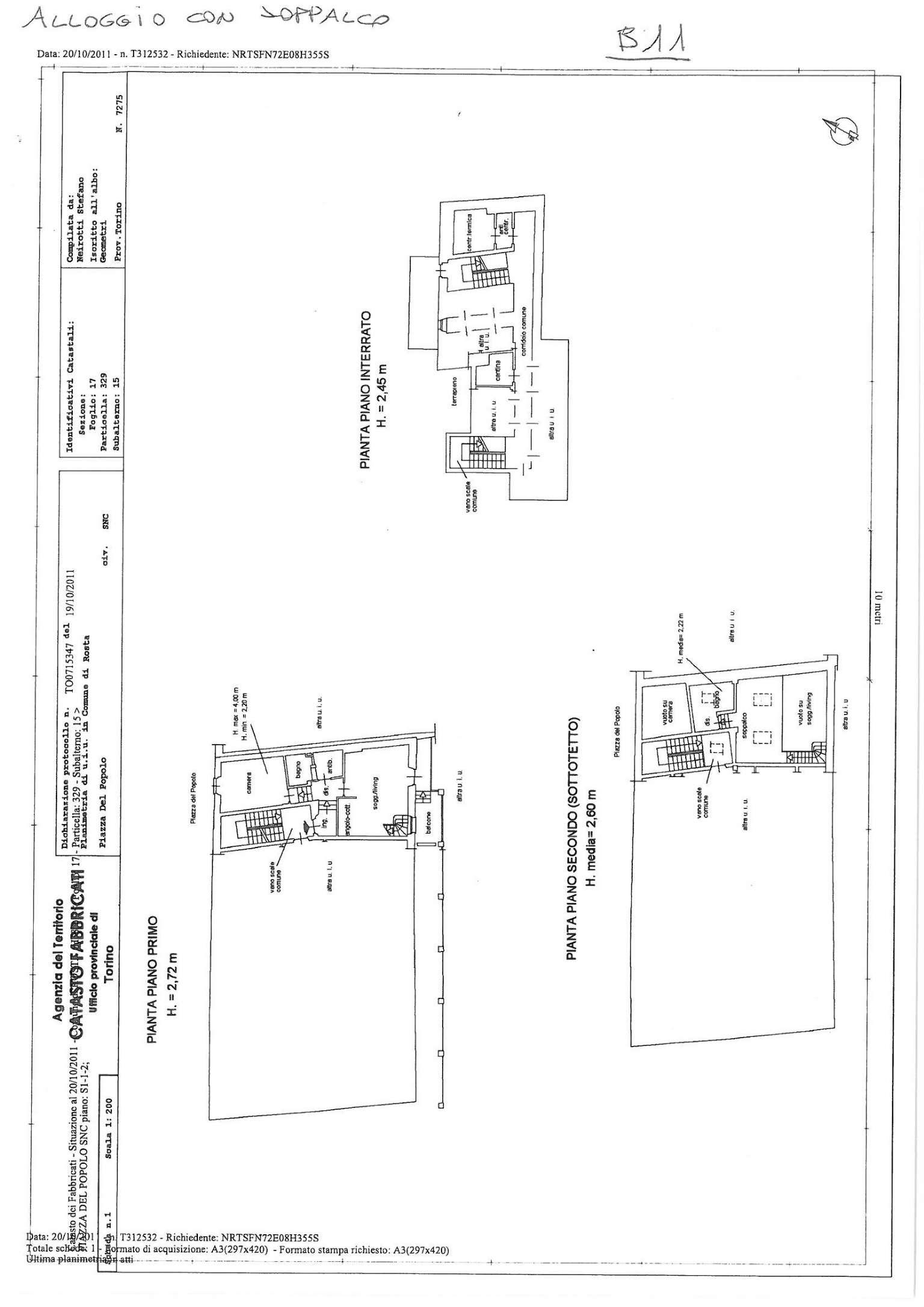 Affitto  bilocale Rosta Piazza Del Popolo 1 1045408
