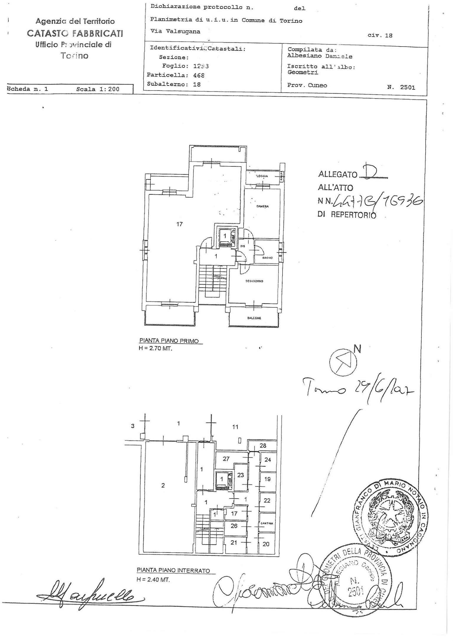Vendita  bilocale Torino Via Valsugana 1 1082176