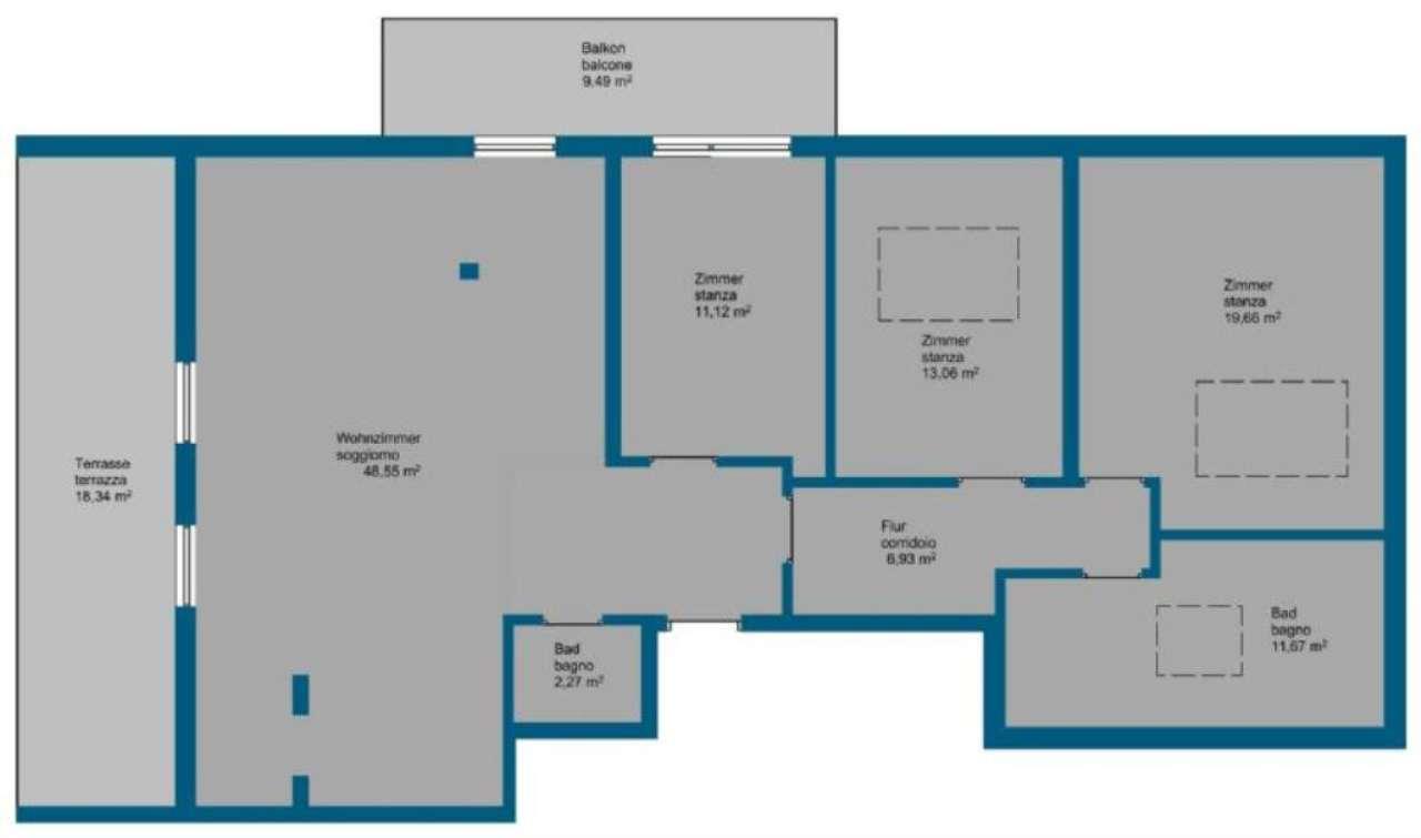Attico / Mansarda in vendita a Bronzolo, 4 locali, prezzo € 290.000 | Cambio Casa.it