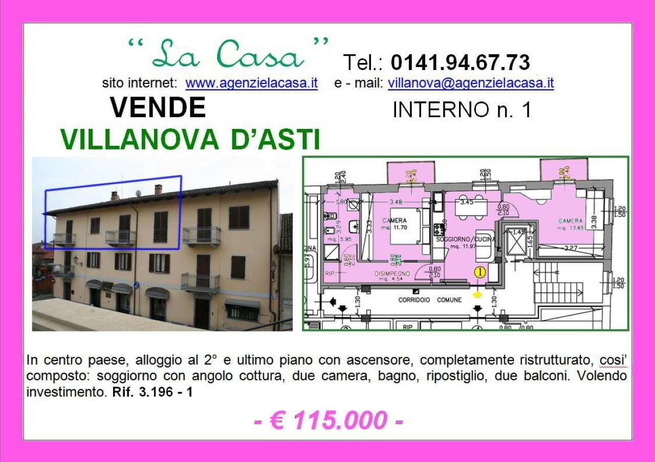 Appartamento in vendita a Villanova d'Asti, 3 locali, prezzo € 90.000 | Cambio Casa.it