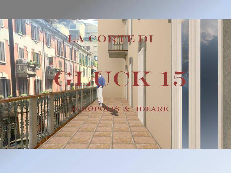 Bilocale Milano Via Gluck 12