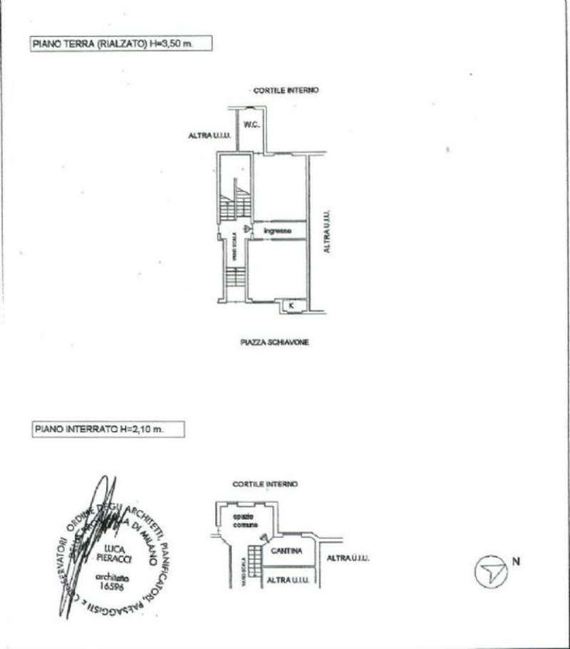 Vendita  bilocale Milano Piazza Piazza Schiavone 1 1029917