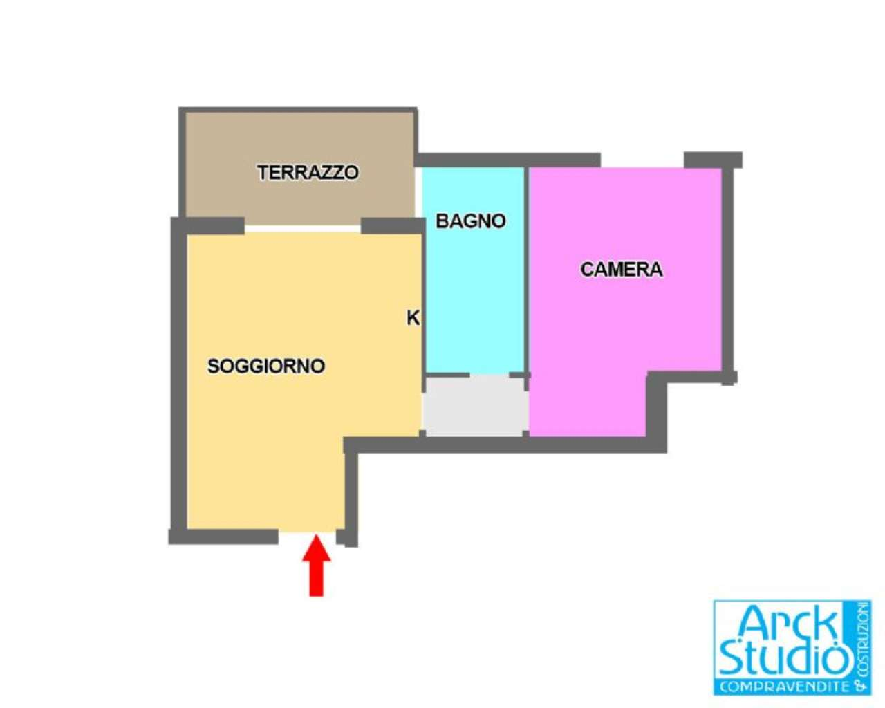 Bilocale Cassano d Adda Via Tornaghi,59 2