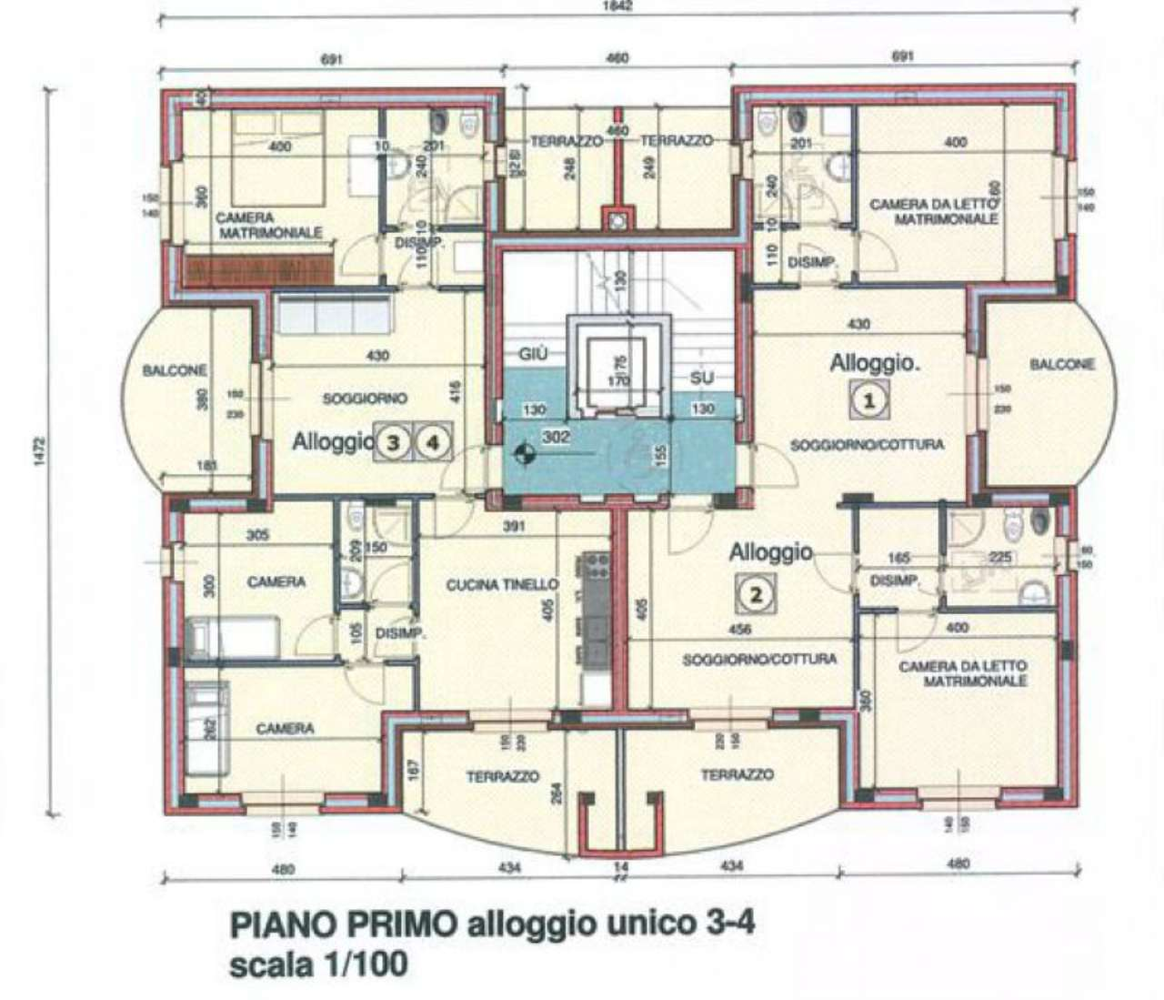Appartamento in vendita a Asti, 4 locali, prezzo € 187.000 | Cambio Casa.it