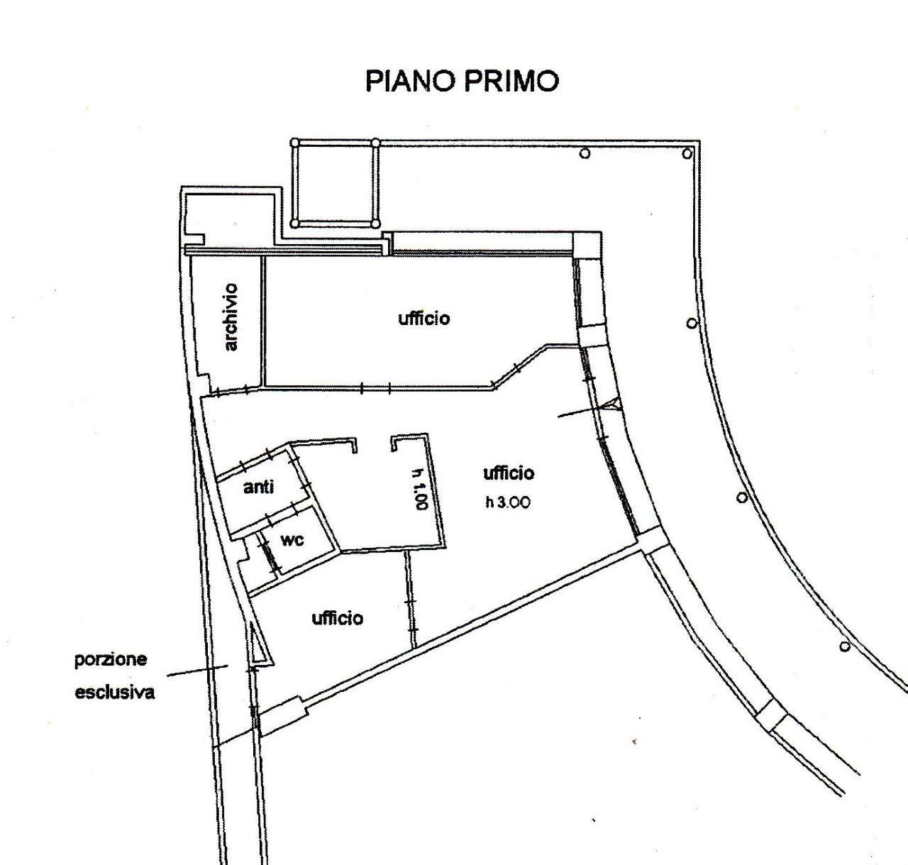 Ufficio-studio in Affitto a Bologna Semicentro: 4 locali, 133 mq